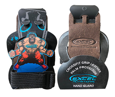 Pull-up Kettlebell Gymnastic WOD Palm Protectors Pair Quest Hand Grips BLACK