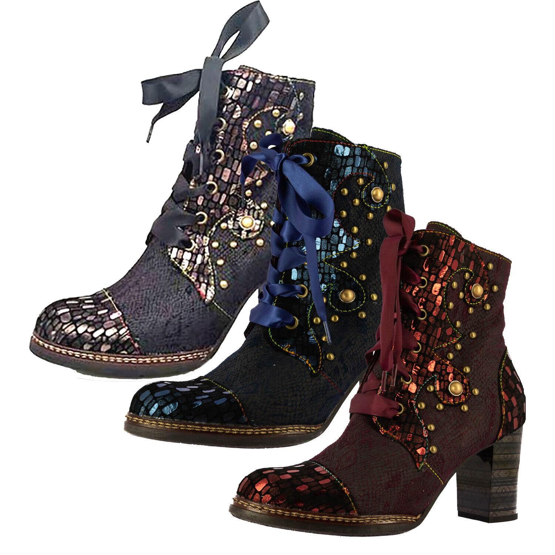 Laura Vita SL18956-3E Elceao 03 Damen Schuhe Stiefeletten Ankle Stiefel