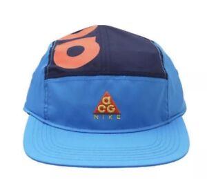 165c7e5b5eaa7 NIKE ACG DRY AW84 HABANERO RED ORANGE BLUE 5 PANEL ADJUSTABLE HAT ...