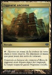 CARTAPAPA-MAGIC-MTG-Ziggourat-Ancienne-Ancient-Ziggurat-UNCO-CONFLUX