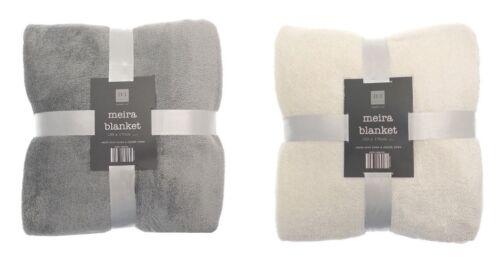 Meira Super Soft Contemporary Shimmering Sparkle Fleece Throw 130x170cm