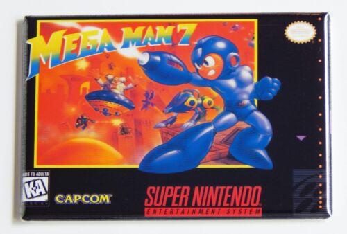 Details about  /Mega Man 7 FRIDGE MAGNET video game box snes