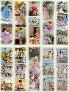 Lot Pfg116- 10 Marque-pages (enfants Sous La Palette Du Peintre)