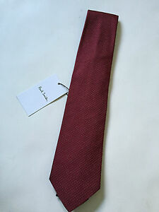 PAUL SMITH Silk TIE - Red with dots - Polka Lining - 9cm Blade - BRAND NEW