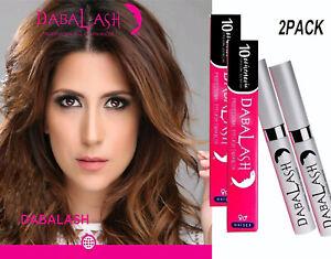 Authentic Dabalash Original Eyelash Growth Serum Eyebrows Enhancer Unisex 2Tubes