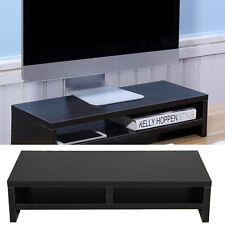 computer monitor stand desk table 2 tier shelf laptop riser lcd tv desktop rack