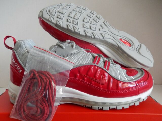 huge selection of 8adc7 ac836 Nike Air Max 98 / Supreme Varsity Red-reflective Silver Sz 12 RARE  844694-600
