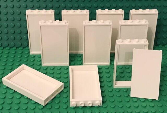 Lego White Windows 1x4x3 White Frames With  Gold Lattice Panels Castle 10pcs