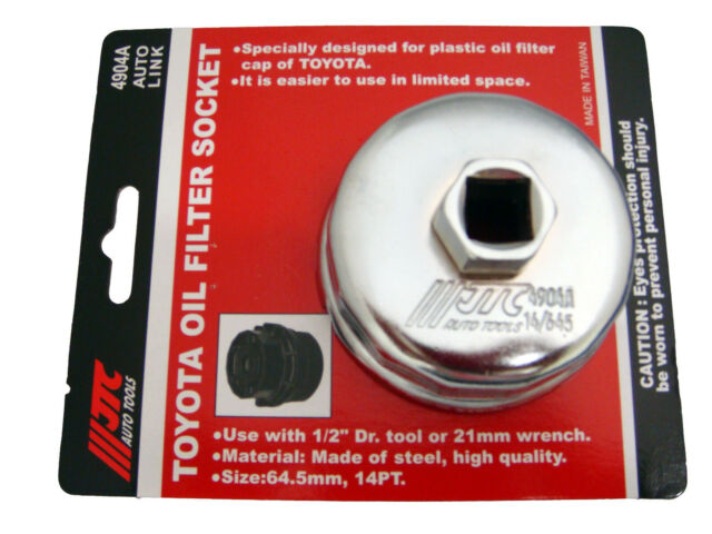 """tool or 21mm wrench. 1//2/""""Dr JTC-4904A TOYOTA OIL FILTER SOCKET 64.5mm 14PT"""