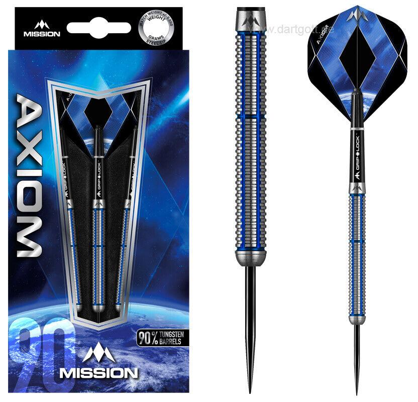 MISSION Darts Axiom M2 Steeldart - 22, 24, 26 gramm Dartset - 90% Tungsten Dart
