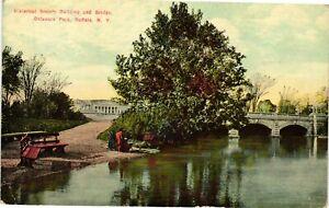 Vintage Postcard - Historical Society Building/Bridge Buffalo New York NY #3665