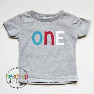Image Is Loading 1st Birthday Shirt Boy Girl One Bday Tshirt