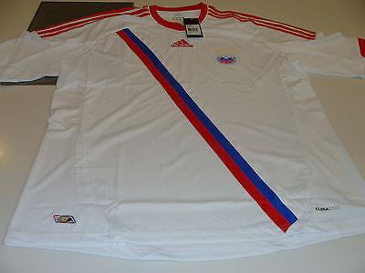 UEFA 2012 Euro Cup Away White Jersey L Team Russia European Soccer Adidas NWT | eBay