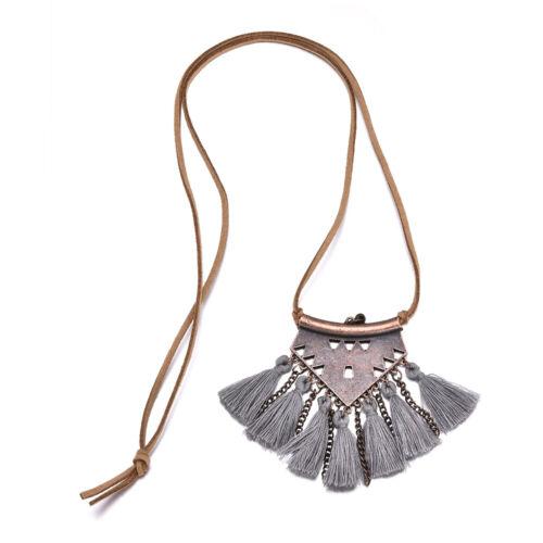 Bohemia femmes Boho spirale Tassel Collier pendentif long pull Chaîne Bijoux New