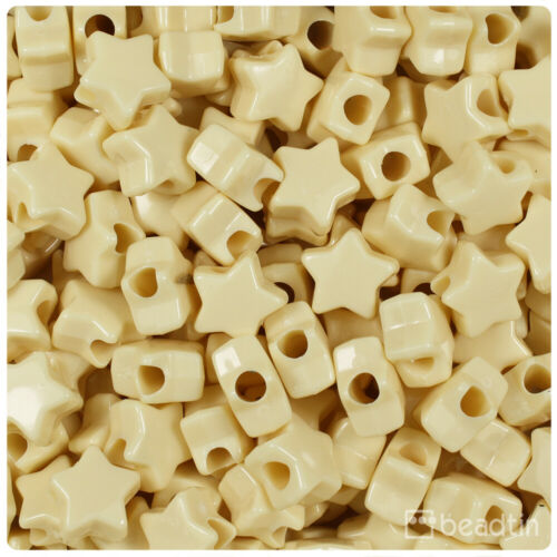 Color choice 250pcs BeadTin Opaque 13mm Star Pony Beads