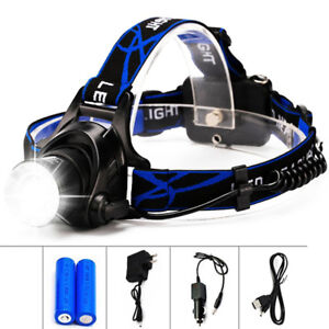 8000LM-T6-LED-18650-Headlamp-Headlight-Flashlight-ZOOM-Head-Light-Lamp-Torch
