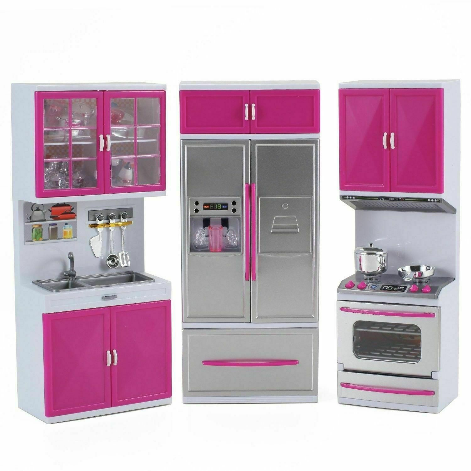 My Modern Kitchen Stove Refrigerator Battery Operated Toy Doll Kitchen For Sale Online Ebay