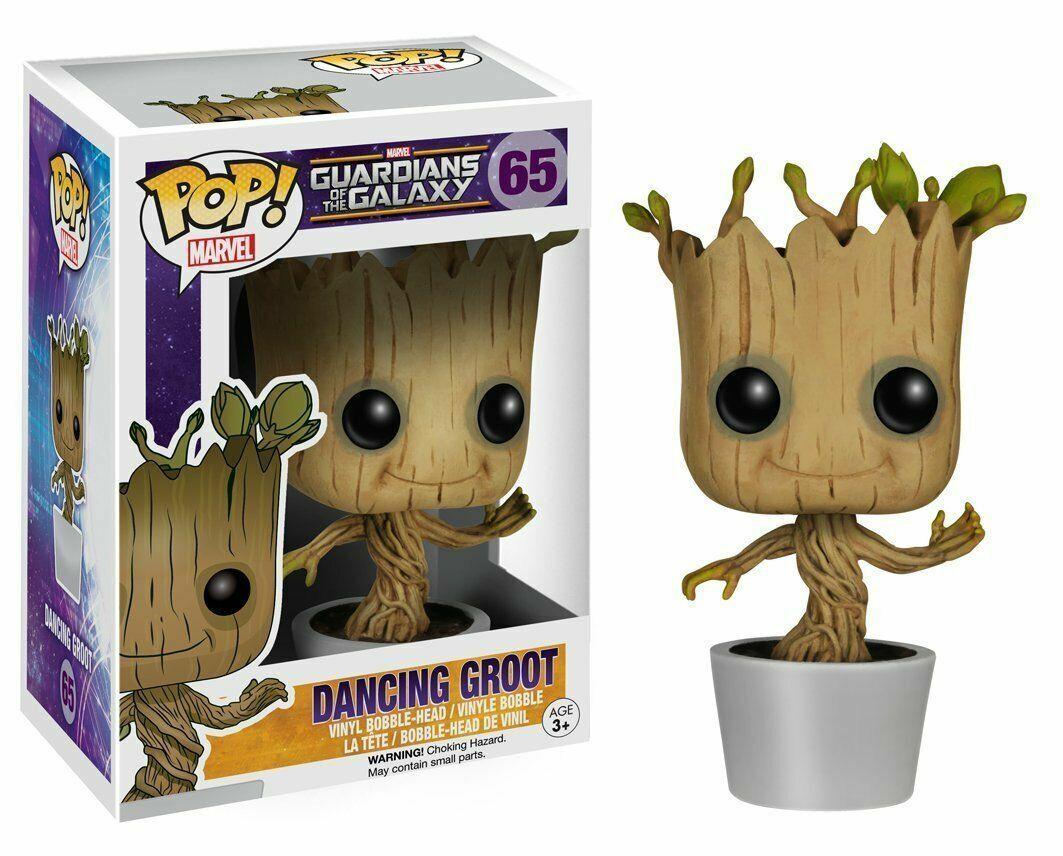 Guardians Of The Galaxy Galaxy Galaxy Pop  Funko Dancing Groot Vinyl Figurine Marvel N°65 110254