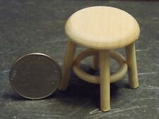 Dollhouse Miniature 1950/'s Black and Oak Bar Stool 1:12  one inch scale E44