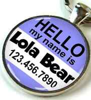Hello My Name Is Round 1 Inch Pet Id Tags Custom Dog Cat