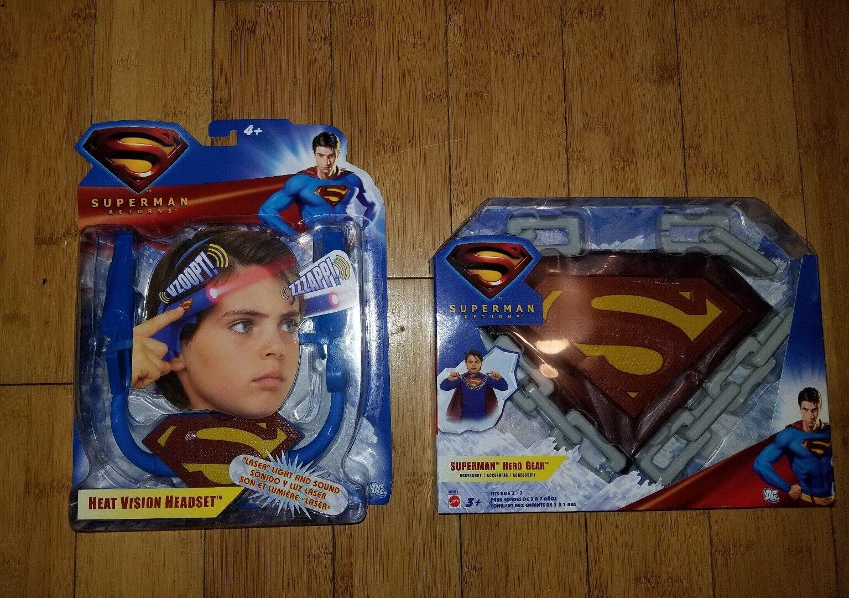Superman Returns Heat Vision Headset & Hero Gear Lot of 2 Brand New Free Ship 1B