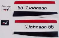 Johnson Outboard 55 Hp Decal Set
