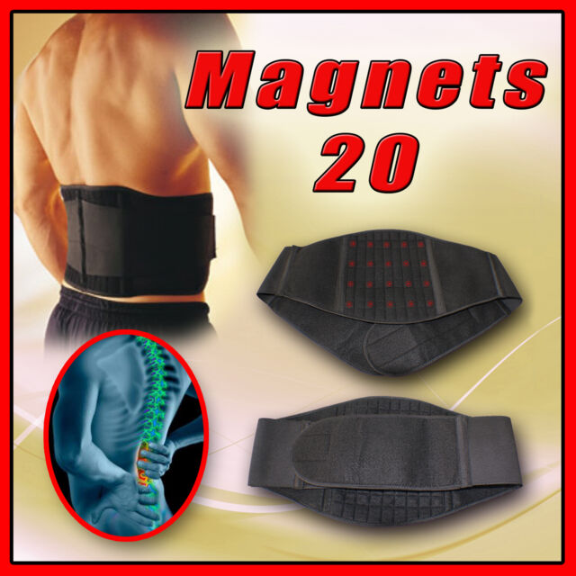 20 MAGNETIC BACK SUPPORT / LOWER LUMBAR BRACE BELT STAP / WAIST BACKACHE