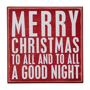 image is loading primitive wood box sign 034 merry christmas to - Merry Christmas To All And To All A Good Night