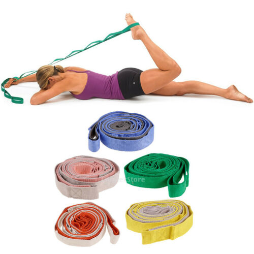 Yoga Stretch Out Yoga Strap with 10 Loop Pilates Workout Dance Exercise Belt