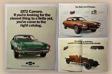 Werbeprospekt Broschüre Camaro S2 Z28 Auto Sportwagen Oldtimer Chevrolet 1972 xy
