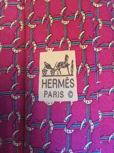 Hermes-Paris-Men-039-s-Neck-Tie-7124-FA-100-Silk-Made-In-France