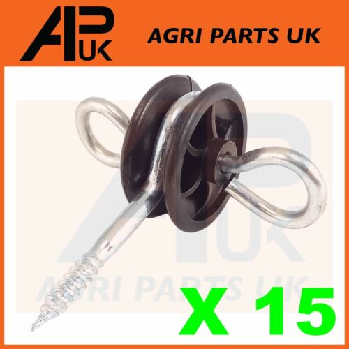 15 x Electric Fence Gate Handle Insulators Anchors Tape Screw Poly Rope Fencing