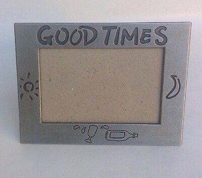 """Good Times Metal Photo Frame 3.5""""x5"""" Silver Tabletop Hoge Veiligheid"""