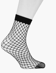 2-Pairs-Women-Black-Fashion-Fishnet-Socks-Fast-Delivery