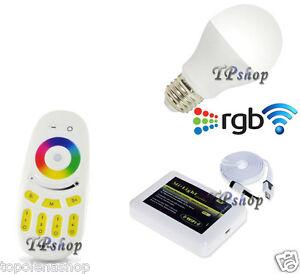 Lampada Led Wifi Luce Bianca Rgb Multicolor E27 Telecomando Rf