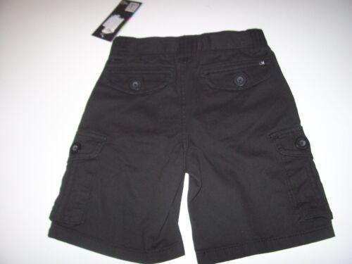 NEW Hurley solid black khaki chino  cargo shorts boys  4 7 10 12 16 18 20