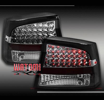 09-10 DODGE CHARGER LED ALTEZZA TAIL BRAKE LIGHT REAR LAMP BLACK R/T SE SRT8 SXT