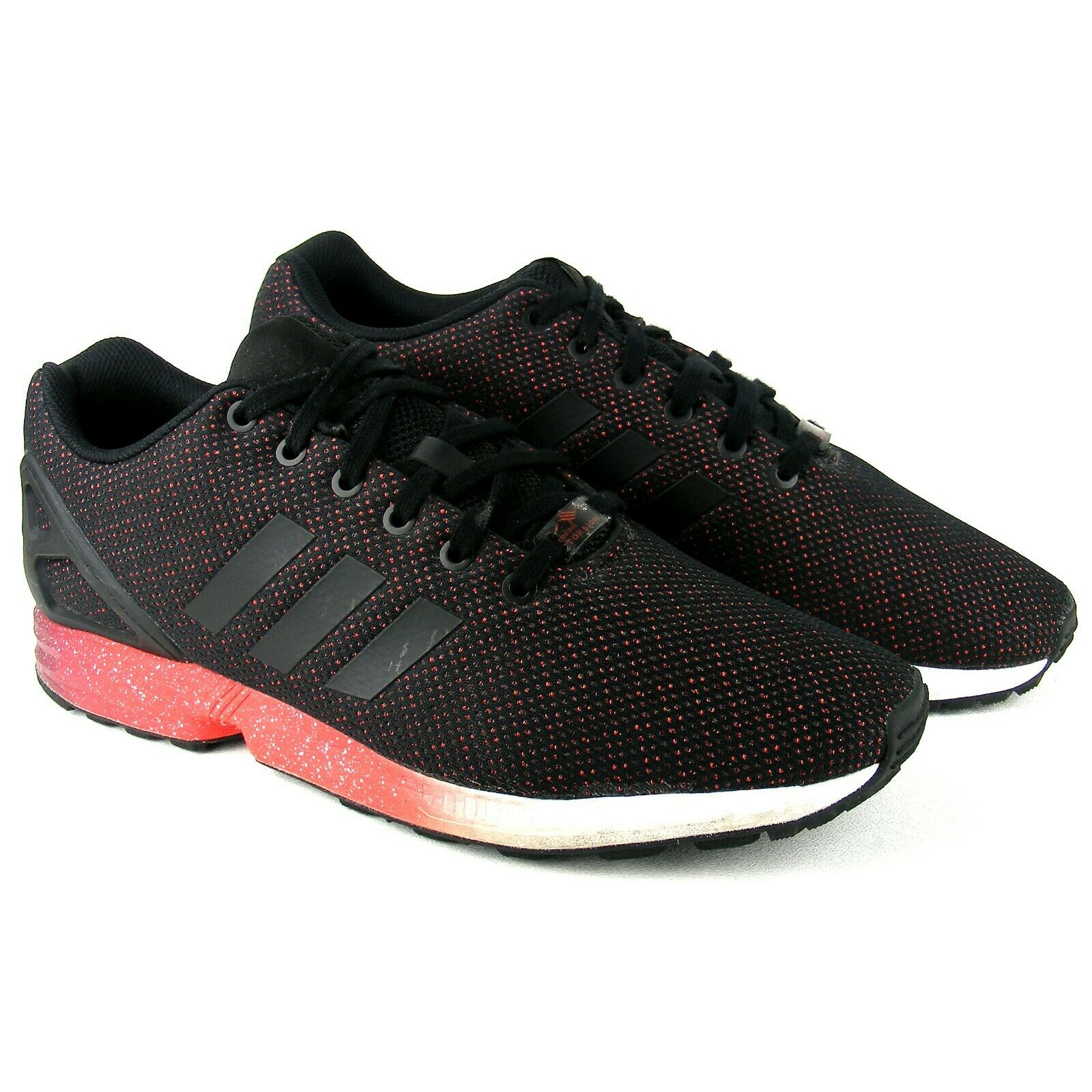 Adidas ZX Flux Core Black Red Power Red AF6327 Torsion System Running Mens 12