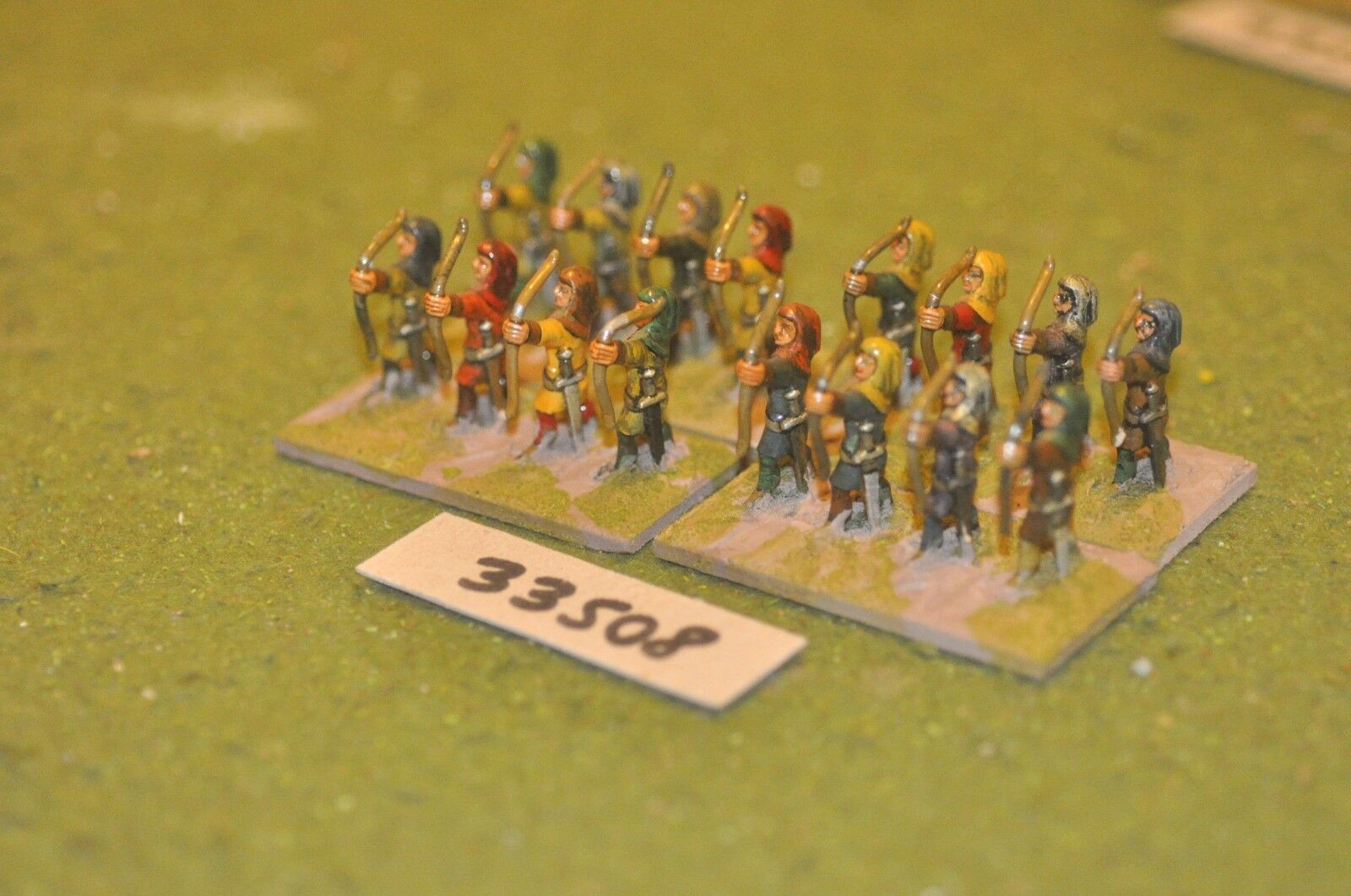 25mm medieval   english - archers 16 figures - inf (33508)