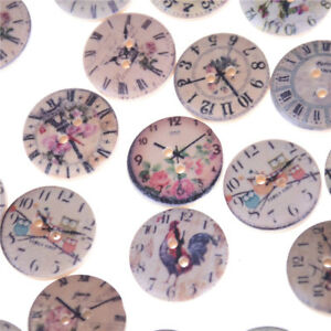 50pcs-set-Retro-Clock-Wooden-Buttons-2-Holes-Painted-Mini-Wooden-Buttons-Craf-Nd