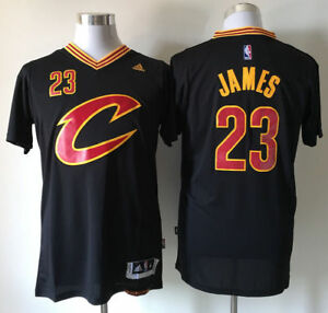 premium selection b781c c0e8d Details about New Cleveland Cavaliers LeBron James Black #23 Basketball Men  Jersey Size:S--XXL