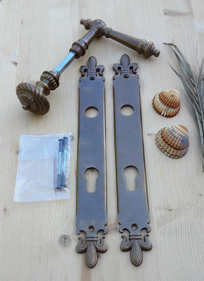 wie antik Langschild Cavo Schlossabdeckung für Haustüren PZ92