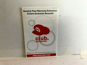Club-Nintendo-Wii-INSERT-ONLY-authentic