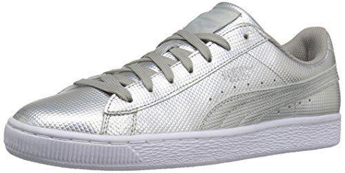 PUMA Mens Basket Classic Holographic Fashion Sneaker- Pick SZ color.