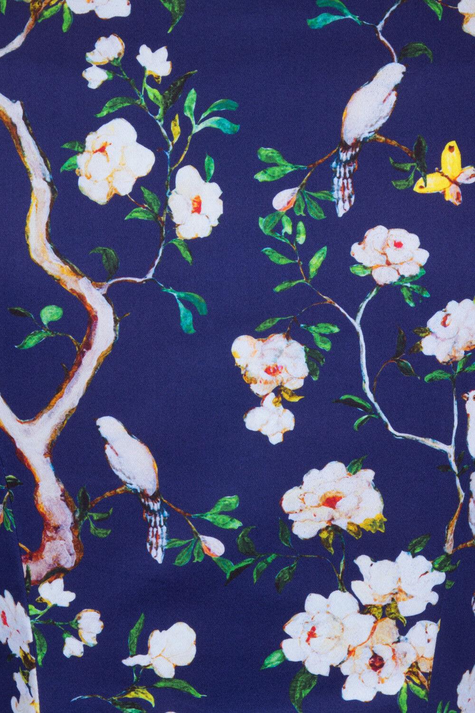 Hearts & & & rosas anni'50 Vintage Blu Navy Viola GIARDINO INCANTATO Floreale Swing Abito 701f54
