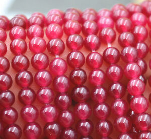 """Natural 6mm Faceted Brazil Red Ruby Gemstones Loose Beads 15/"""" AAA++"""