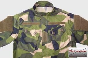 Adaptable Suédois Camouflage M90 Camouflage Tacgear Ksk Combat Veste Taille L/large