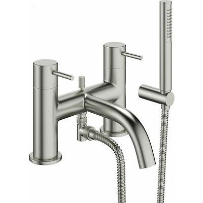 Crosswater Mike Pro Bath / Shower Mixer Tap Brushed Stainless Steel
