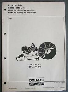 1994 Dolmar Concrete Saw Illustrated Parts Manual Models
