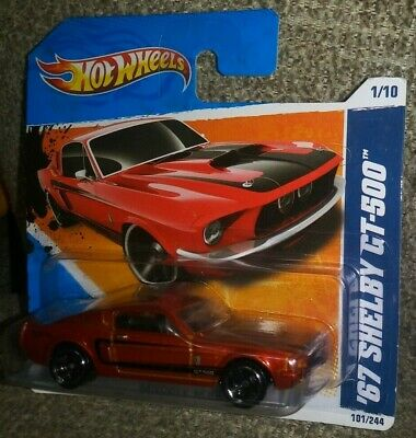 2011 Hot Wheels #101 Muscle Mania 1//10 /'67 SHELBY GT-500 Red Variant w//Black MC5